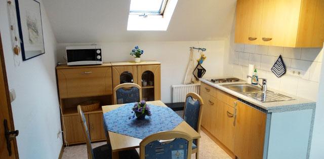 Unser Appartement 2 auf dem Hof Kilbe ist mit einer Mini-Küche ausgestattet