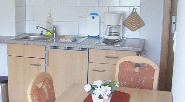 Unser Appartement 3 auf dem Hof Kilbe ist mit einer Mini-Küche ausgestattet