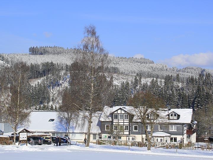 Auch im Winter können Sie auf dem Hof Kilbe in Bad Berleburg einen schönen Urlaub verbringen
