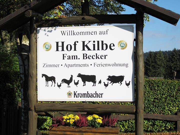 Herzlich Willkommen auf dem Hof Kilbe, der Bauernhof Pension in Bad Berleburg