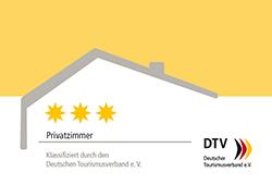 DTV Privatzimmer klassifiziert durch den Deutschen Tourismusverband e.V.