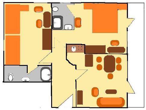 Hof Kilbe Ferienwohnung 4 Grundriss